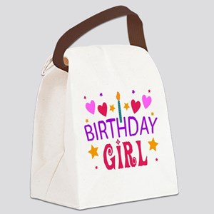 Birthday Girl Canvas Lunch Bag