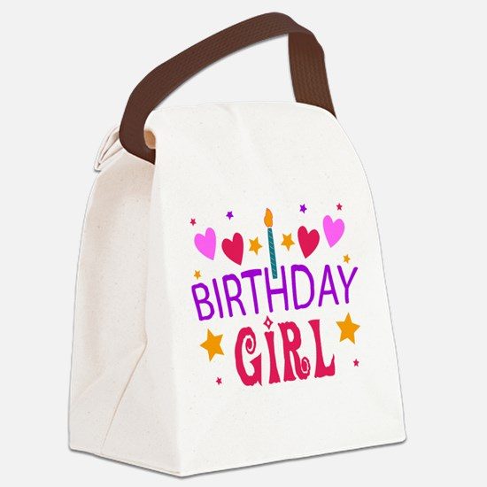 Birthday Girl Canvas Lunch Bag
