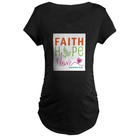 Faith Hope & Love Maternity Dark T-Shirt
