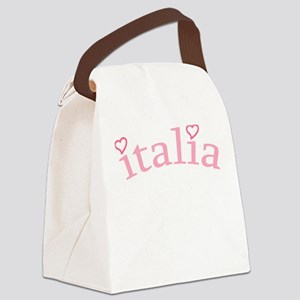 """""""Italia with Hearts"""" Canvas Lunch Bag"""