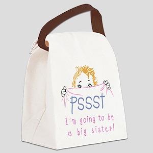 Pssst Big Sister Canvas Lunch Bag