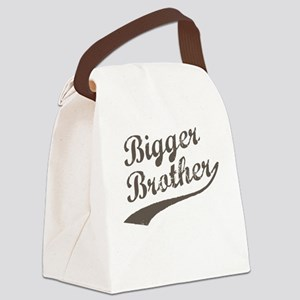 Bigger Brother (Brown Text) Canvas Lunch Bag