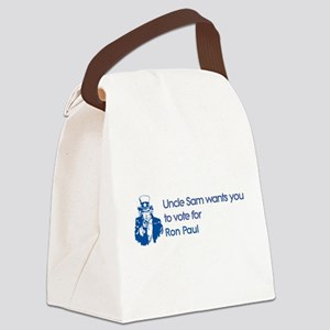 Uncle Sam: Ron Paul Canvas Lunch Bag