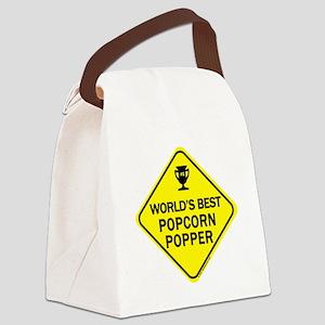 Popcorn Popper Canvas Lunch Bag