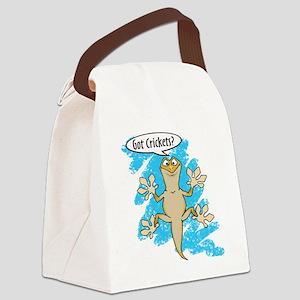 Funny Carton Gecko Canvas Lunch Bag