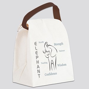 Elephant Totem Canvas Lunch Bag