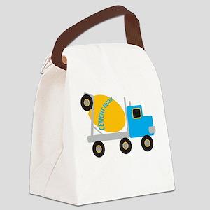 Cement Mixer Canvas Lunch Bag