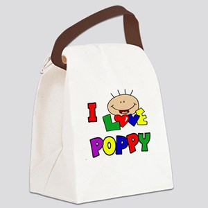 I Love Poppy CUTE Canvas Lunch Bag