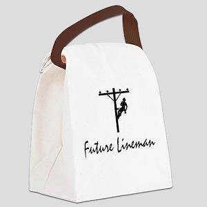 Future Lineman Canvas Lunch Bag