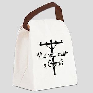 Who you callin a grunt? Canvas Lunch Bag