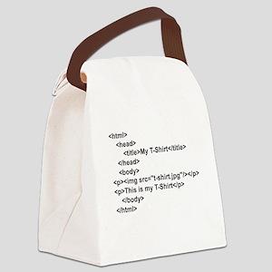 HTML T-Shirt Canvas Lunch Bag
