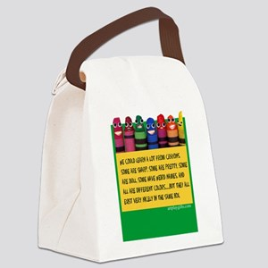 Peaceful Crayons Canvas Lunch Bag