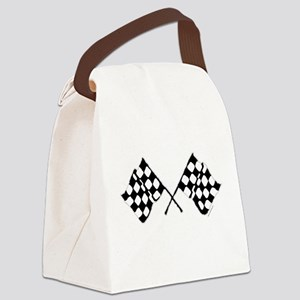 CHECKERED FLAG Canvas Lunch Bag