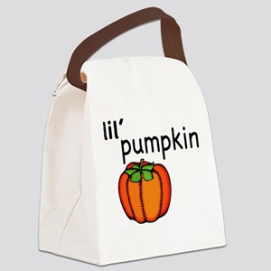 Little Pumpkin Thanksgiving Canvas Lunch Bag