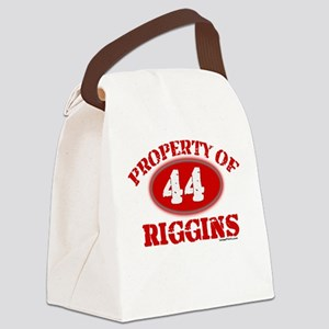 PROPERTY OF (44) RIGGINS Canvas Lunch Bag