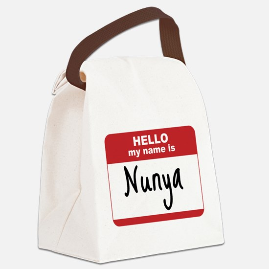 My Name Is Nunya Canvas Lunch Bag