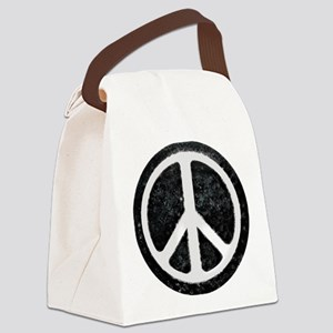 Original Vintage Peace Sign Canvas Lunch Bag
