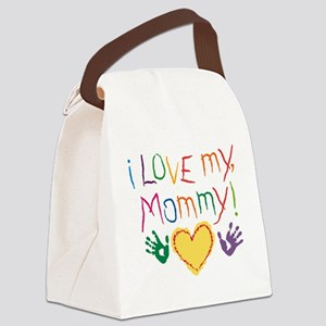 i luv mom Canvas Lunch Bag