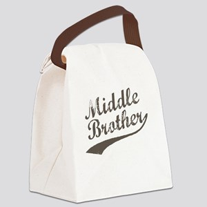 Middle Brother (Brown Text) Canvas Lunch Bag