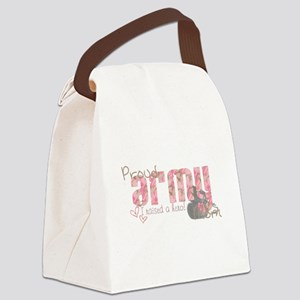Army Mom (pink) Canvas Lunch Bag