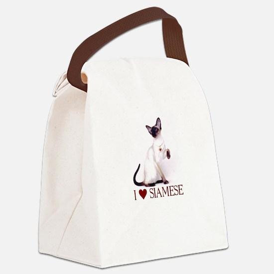 I love Siamese Canvas Lunch Bag