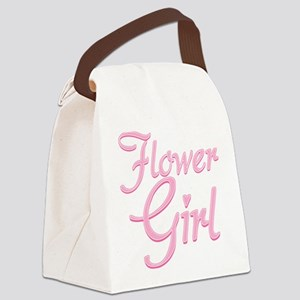 Amore Flower Girl Pink Canvas Lunch Bag