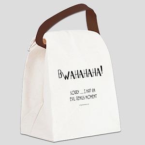 Evil genius moment Canvas Lunch Bag