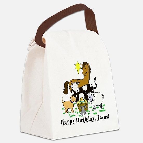 Jesus Birthday Canvas Lunch Bag