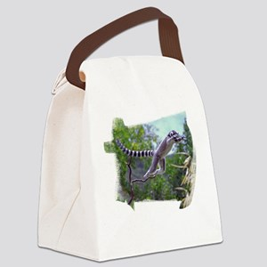 Leaping Lemur Canvas Lunch Bag