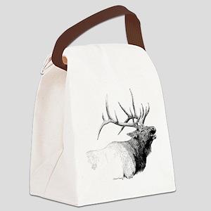 Bull Elk Canvas Lunch Bag