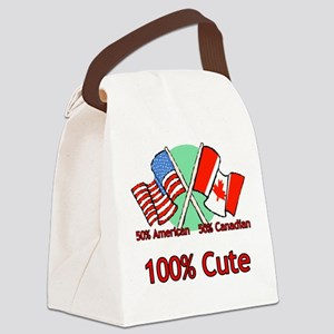 Canadian American 100% Cute Canvas Lunch Bag