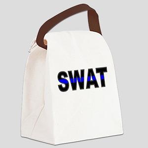 Blue Line SWAT Canvas Lunch Bag