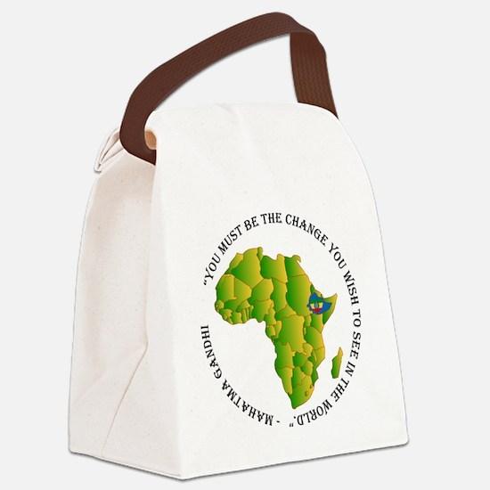 Funny Ethiopian Canvas Lunch Bag