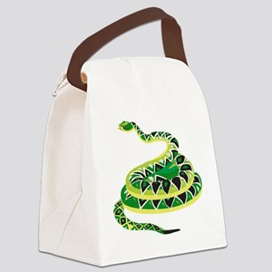 Green Snake Canvas Lunch Bag