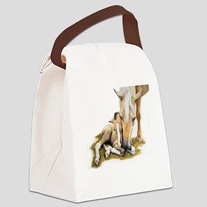 Palomino, Mare, buckskin, foa Canvas Lunch Bag