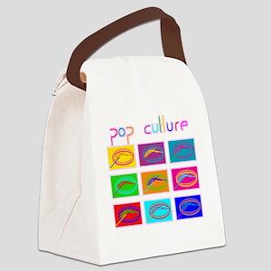 Pop Culture Canvas Lunch Bag