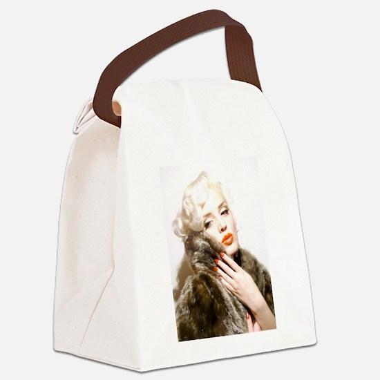 Funny Marilyn warhol Canvas Lunch Bag