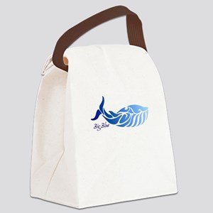 Big Blue Canvas Lunch Bag