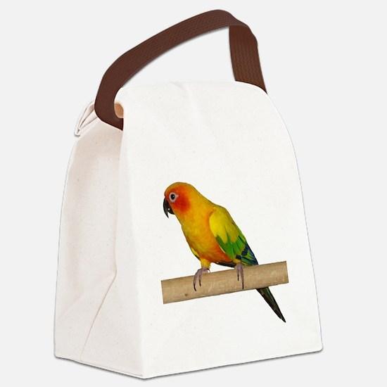 Sun Conure Canvas Lunch Bag