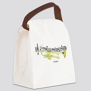 Trumpet Music Canvas Lunch Bag