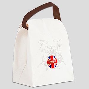 UK DRUM KIT Canvas Lunch Bag
