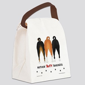 Nothin' Butt Basenjis Canvas Lunch Bag
