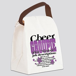 Cheer Groupie Sister Canvas Lunch Bag