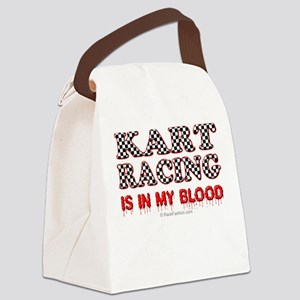 Kart Racing Blood Canvas Lunch Bag