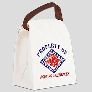 FIGHTING RAZORBACKS DISTRESSE Canvas Lunch Bag