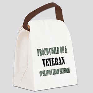 Proud Child of a Veteran Iraq Canvas Lunch Bag