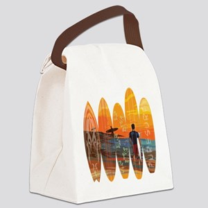 Pure Surfing Canvas Lunch Bag