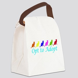 Rainbow Opt to Adopt Canvas Lunch Bag