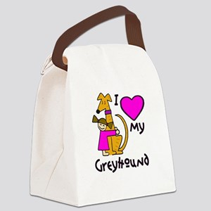 Brown-Haired Girl, Brindle Ho Canvas Lunch Bag