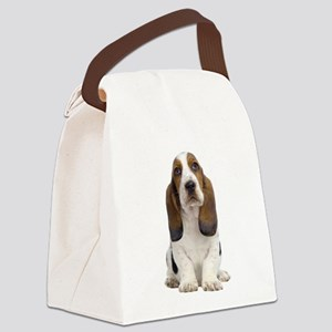 Basset Hound Picture - Canvas Lunch Bag